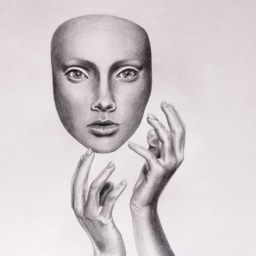 Unmask - Pencil and carbon pencil work, 2014